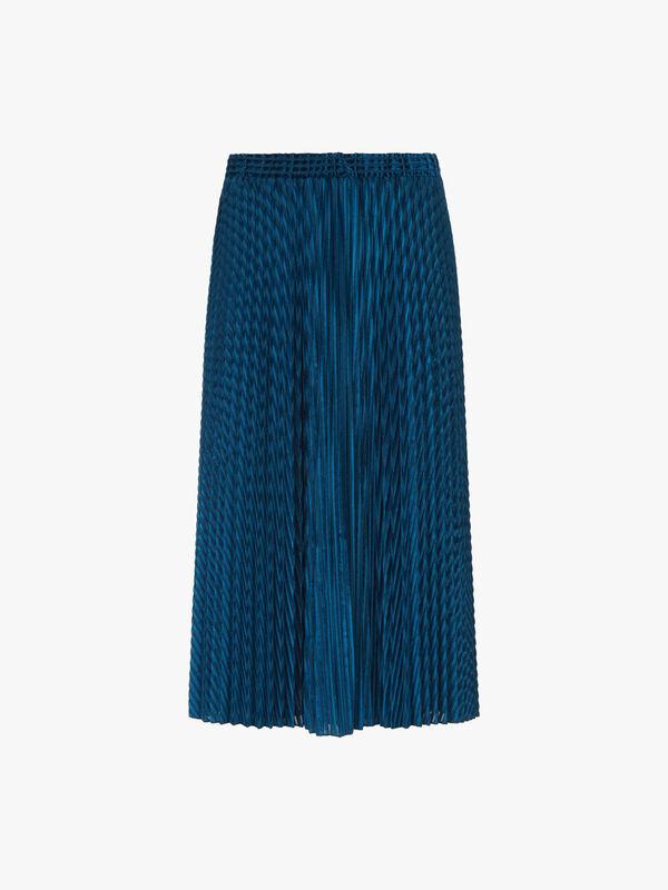 Prato Velvet Pleated Midi Skirt