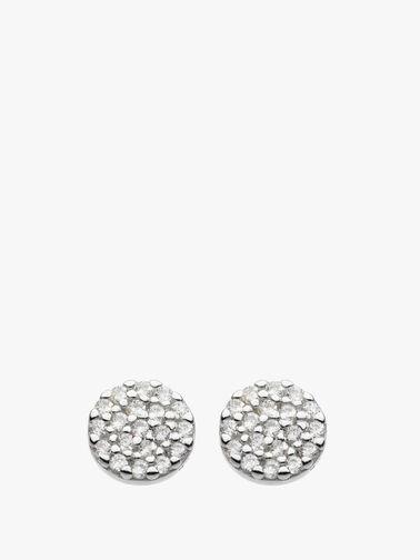 Disc Stud Earrings