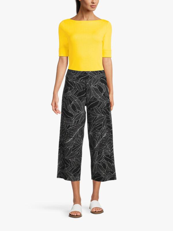 Sketch Print Jersey Crop Trouser