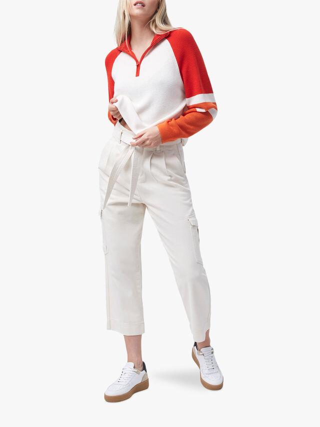Martha Colour Block Half Zip Jumper
