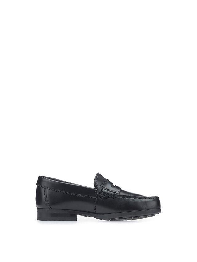 Penny 2 Black Hi-Shine Leather School Shoes