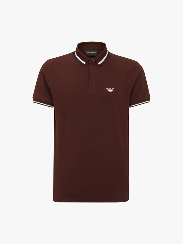 Wide Tipped Short Sleeve Polo Shirt