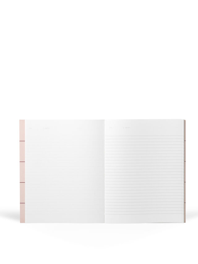 Uma Pink Grid Large Notebook Ruled Pages