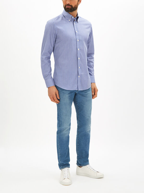 Slim Textured Stripe Shirt