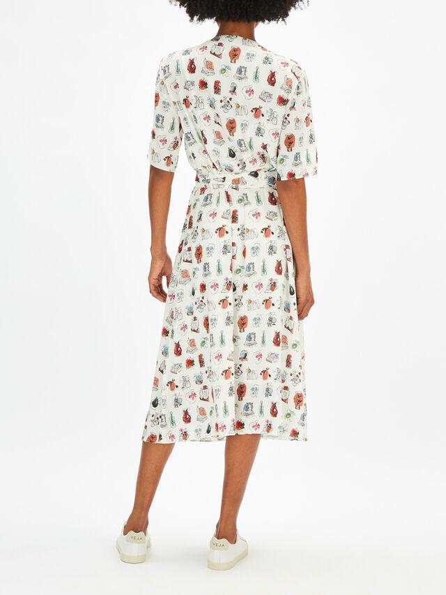 Fenwick Exclusive Printed Wrap Dress