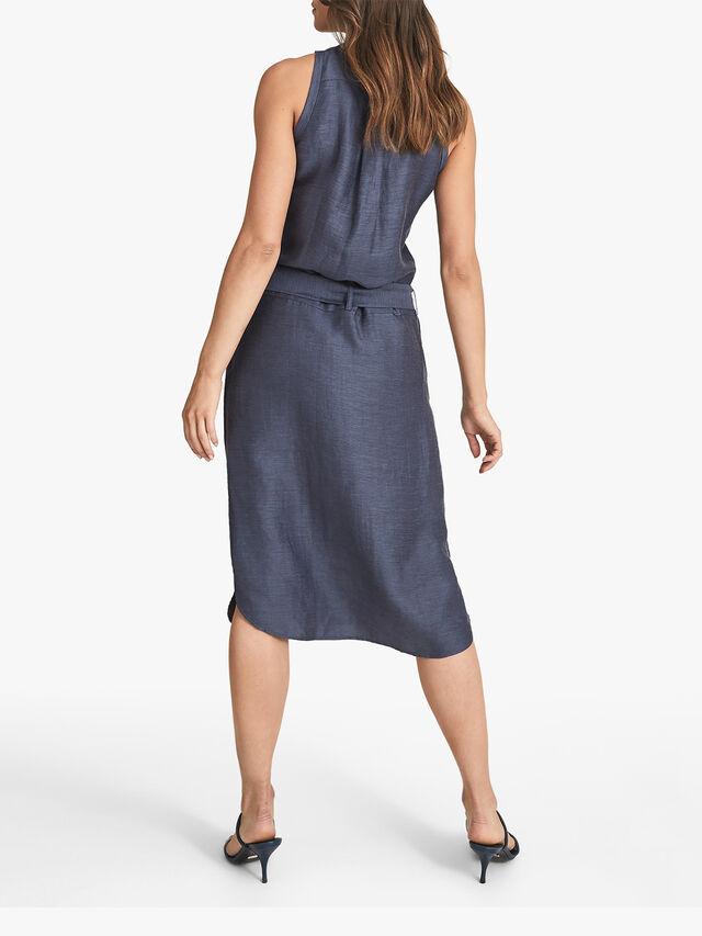Keeley Linen Blend Midi Dress