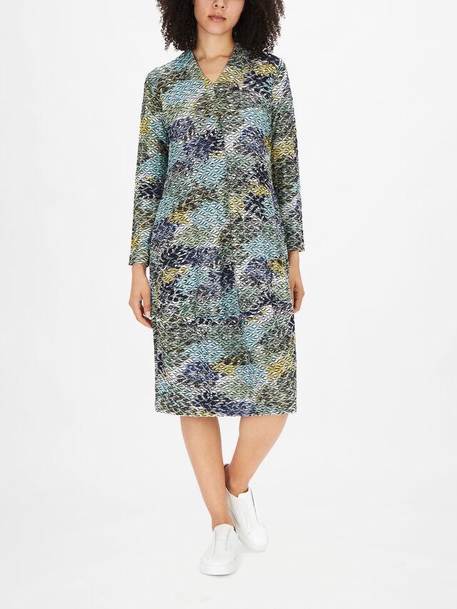 Ripple Bubble Jersey Dress