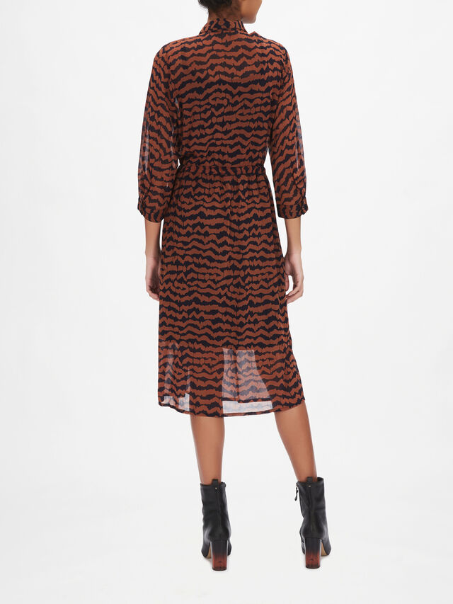 Esmine Printed Shirt Dress