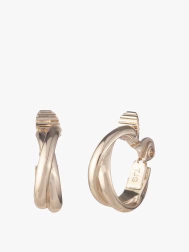 Twisted Hoop Clip Earrings