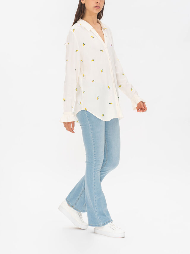 Lily Frill Embro Blouse