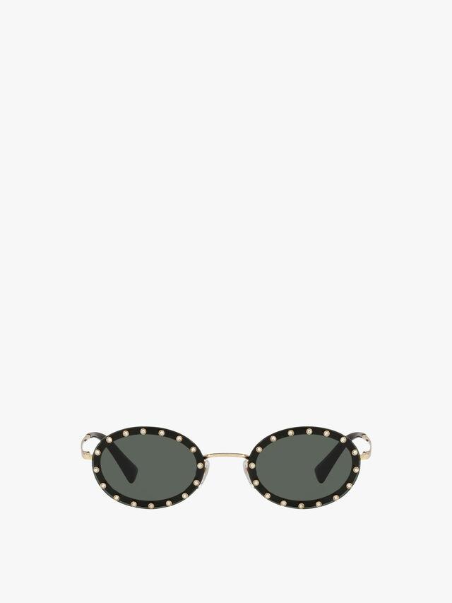 Stud Oval Sunglasses