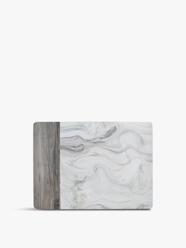 Marble Effect Pack of 6 Standard Mats