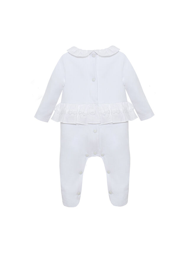 Frill and Bow Trim Baby Grow