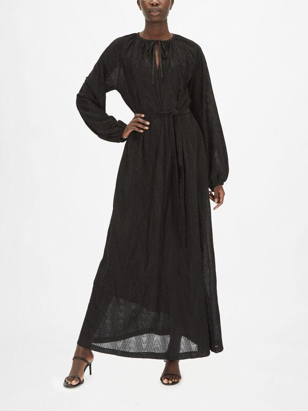 Zig Zag Lurex Maxi Dress