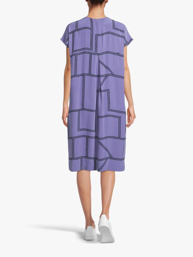Odetto Chain Print Midi Dress