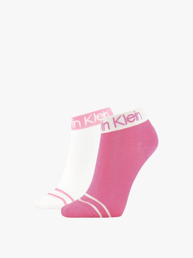 CK Women Short Crew 2 Pair Legwear Logo Zoey