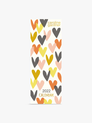 Caroline Gardner Hearts Slim Calendar 2022