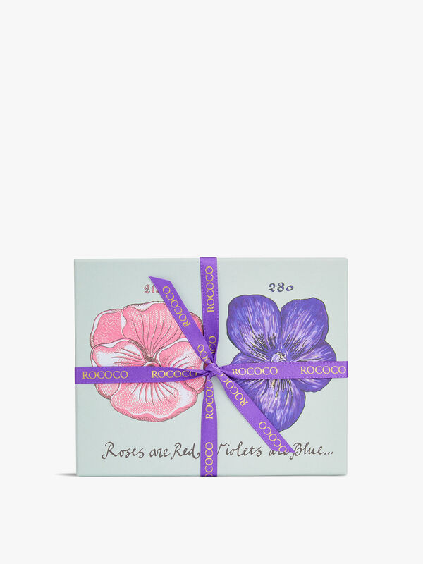 Rose and Violet Fondant Cream Gift Box