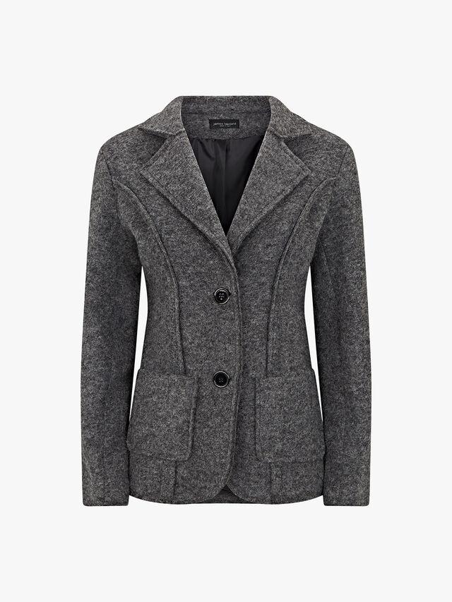 Wool Raw Edge Jacket