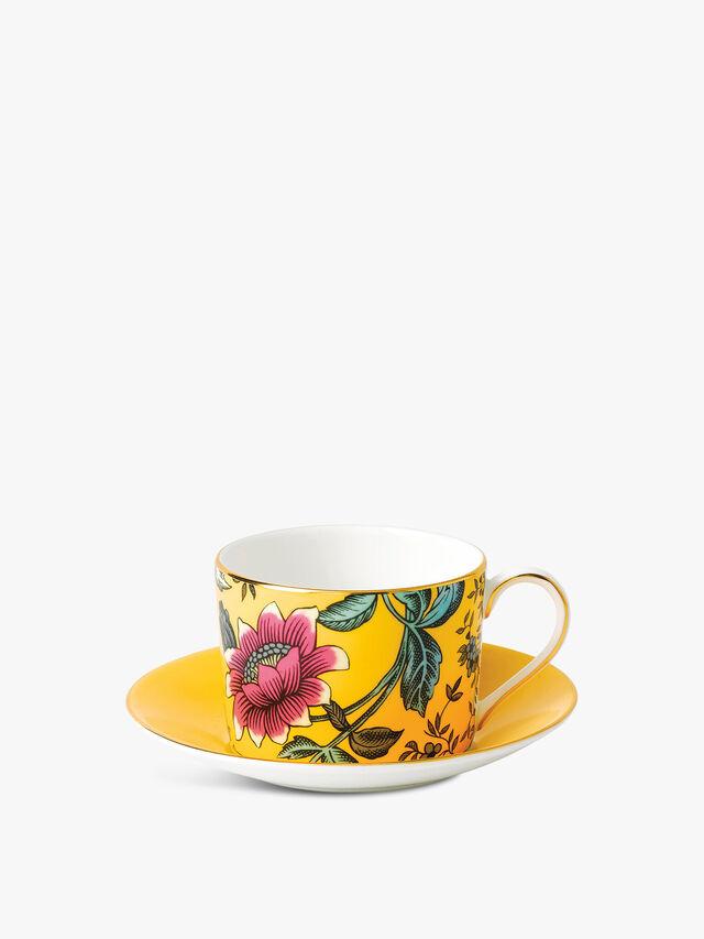 Wonderlust Yellow Tonquin Teacup & Saucer
