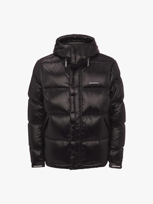 Shiny Nylon Down Coat