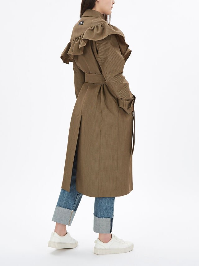 Frilled Trench Coat