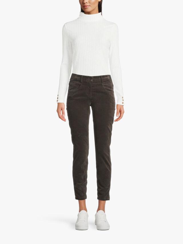 Regular Fit Velvet Jeans