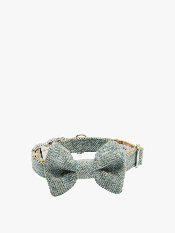 Sage Harris Tweed Dog Collar Large