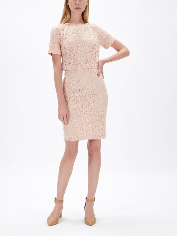Jeri Lace Short Sleeve Day Dress
