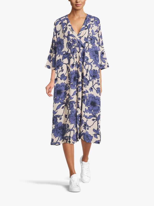 Neila Botanical Print Maxi Dress