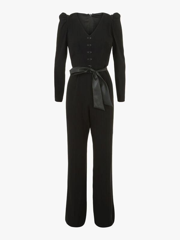Campbell Fluid Crepe Long Sleeve Jumpsuit