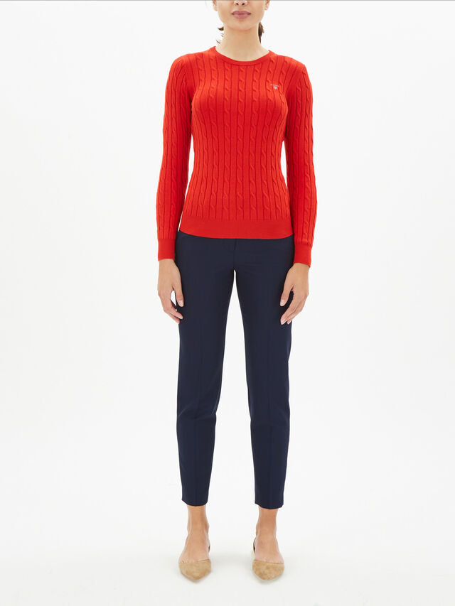 Basic Crew Cable Knit