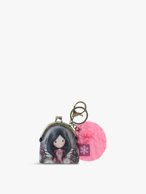 Gorjuss Keyring Clasp Purse Little Wings
