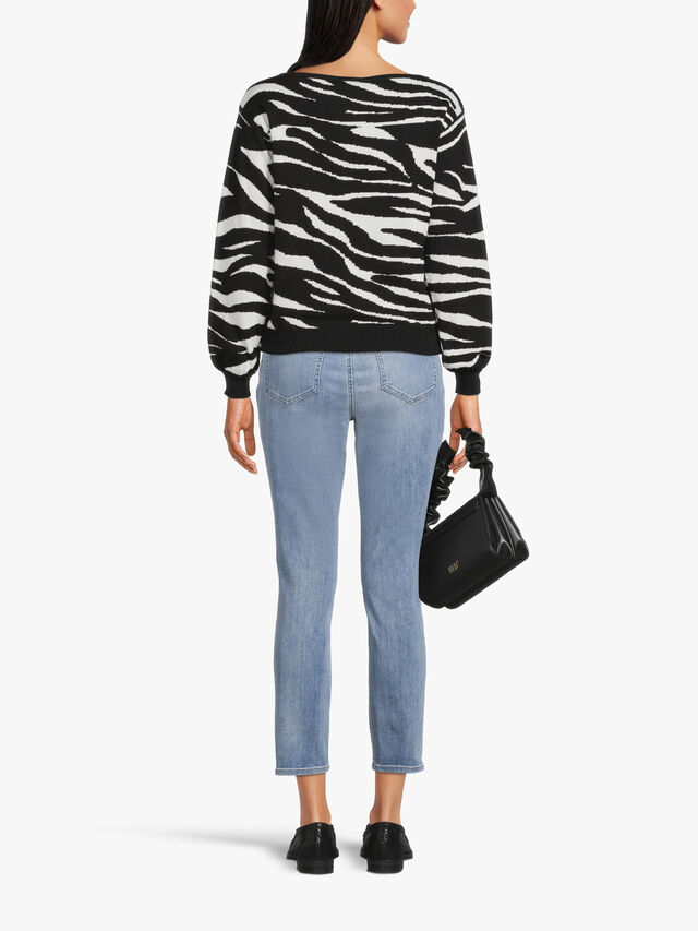 Giornale Printed Knit Long Sleeve Jumper