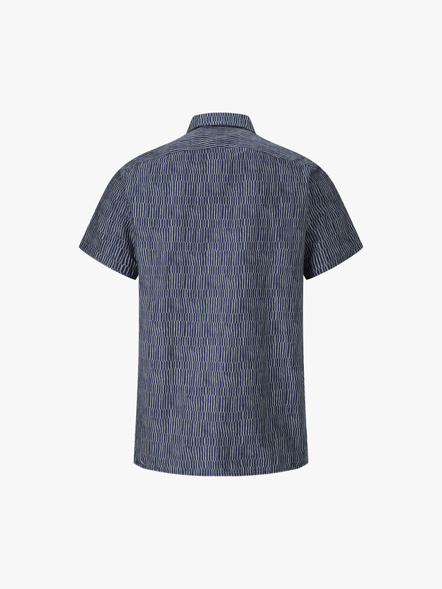 Classic Fit Scramble Net Print Shirt