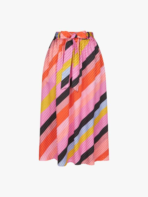 Audrey Stripe Midi Skirt