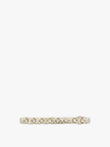 Long French Crystal and Pearl Barrette
