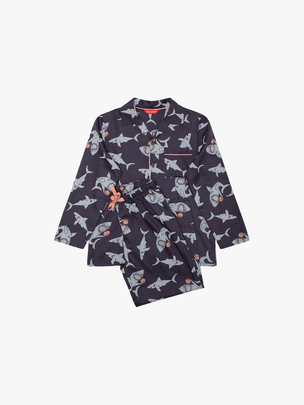 Sharks Print Pyjamas