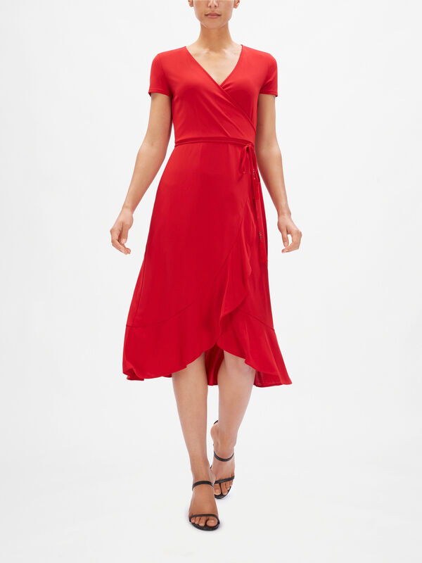 Entiama Wrap Midi Dress