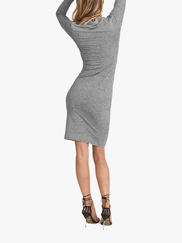 Sara Ruched Wool-Jersey Bodycon Dress