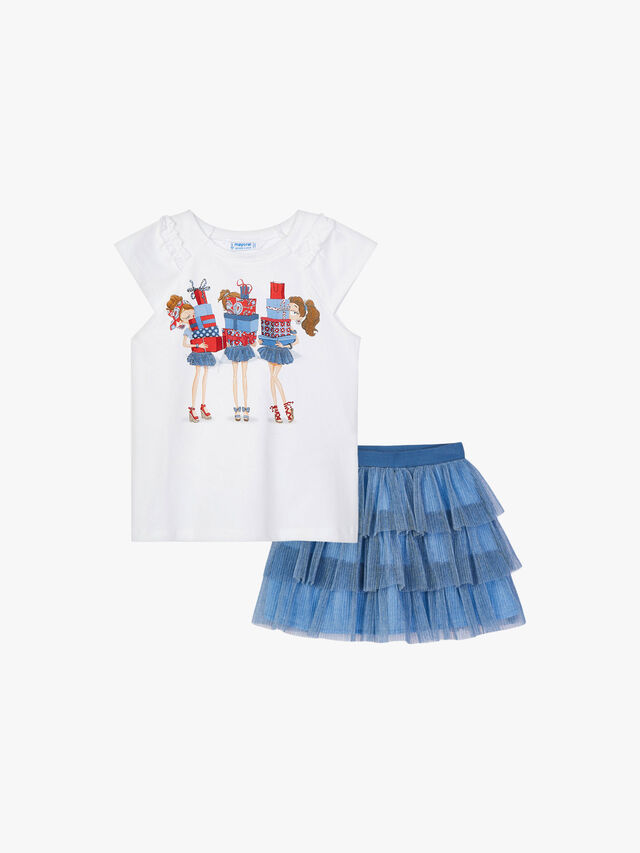 Presents Top and Ruffle Tulle Skirt Set
