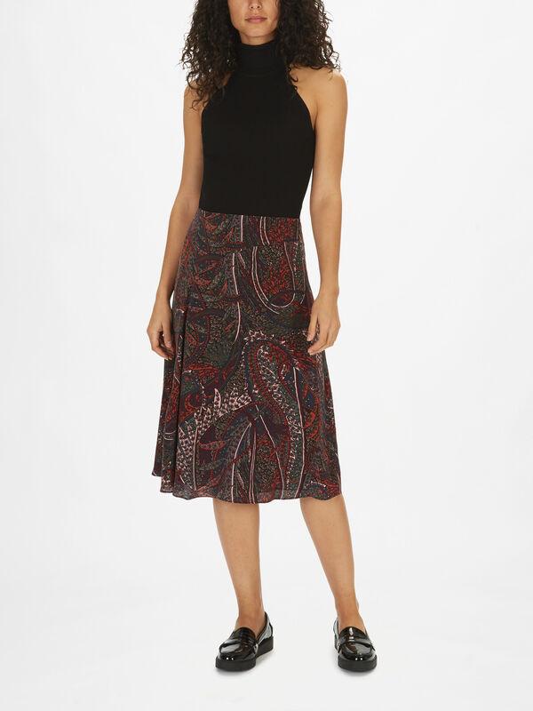 Philae Paisley Midi Skirt