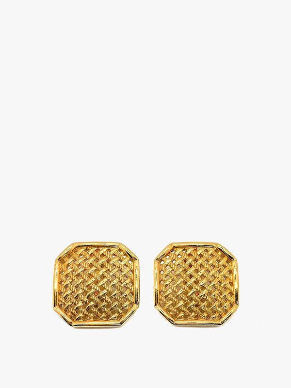 Vintage Dior Lattice Earrings