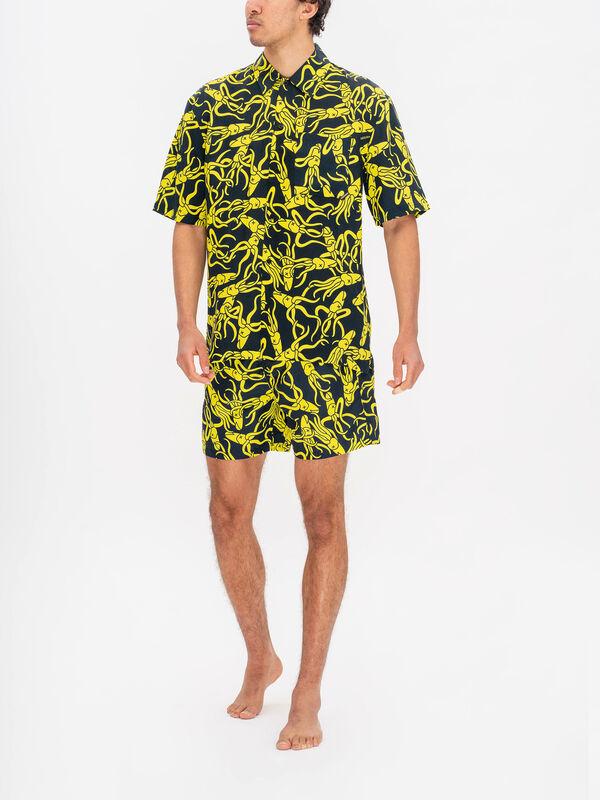 Boardies x RÆBURN Squid Yellow Shirt