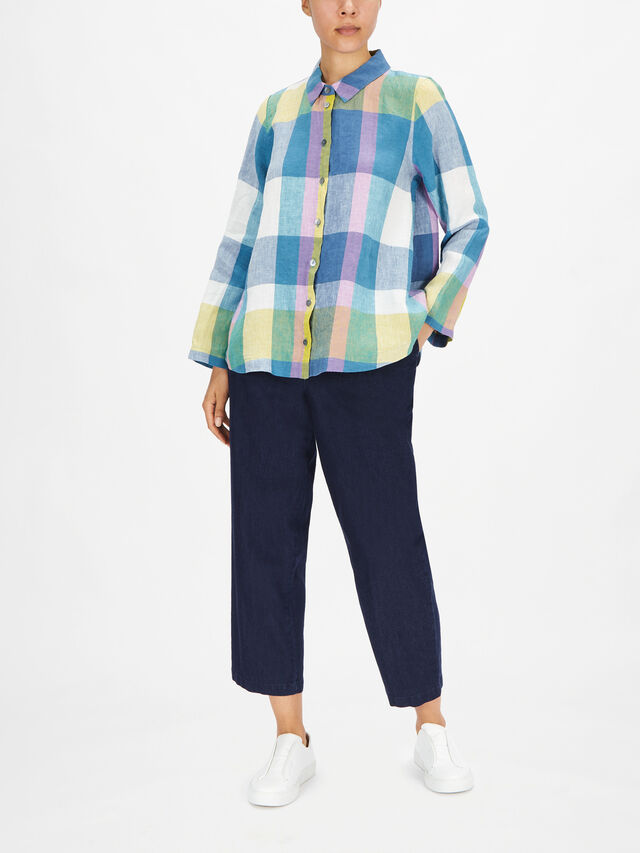 Madras Check A Line Shirt