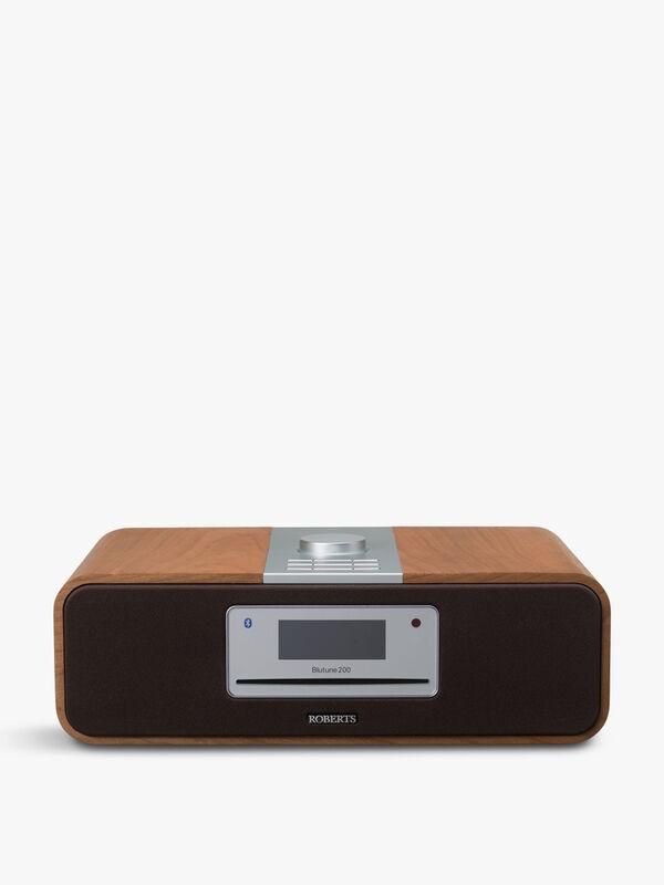 Bluetune 200 Bluetooth CD Sound System Cherry Wood