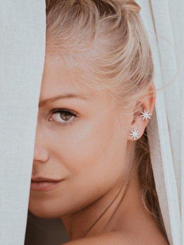 Vega Stud Earrings White Gold