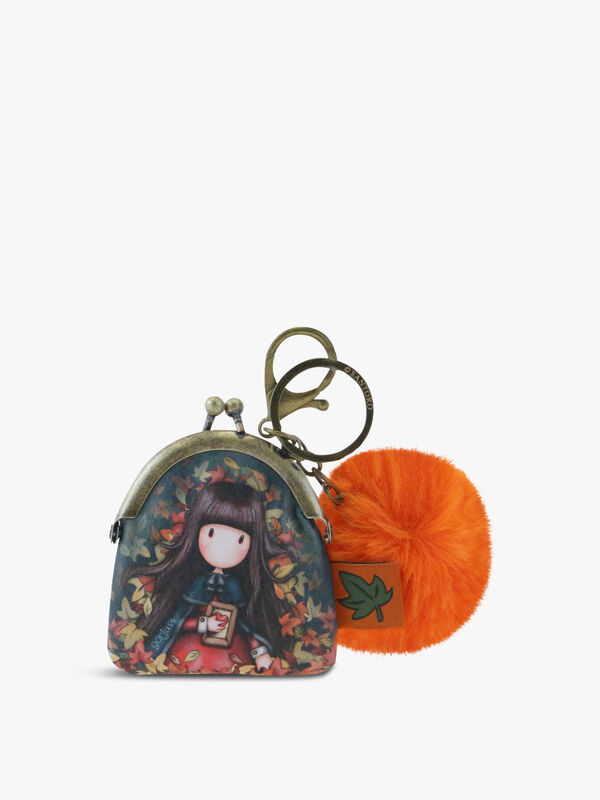 Gorjuss Keyring Clasp Purse Autumn Leaves