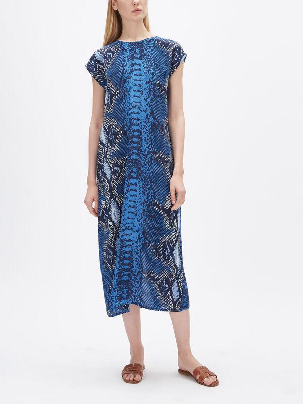 Blair Short Sleeve Silk Dress