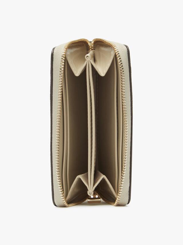 Jet Set Gliter Small Zip Around Card Case